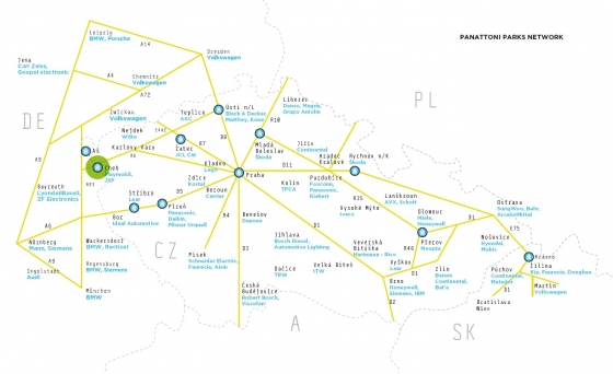 Mapa Cheb